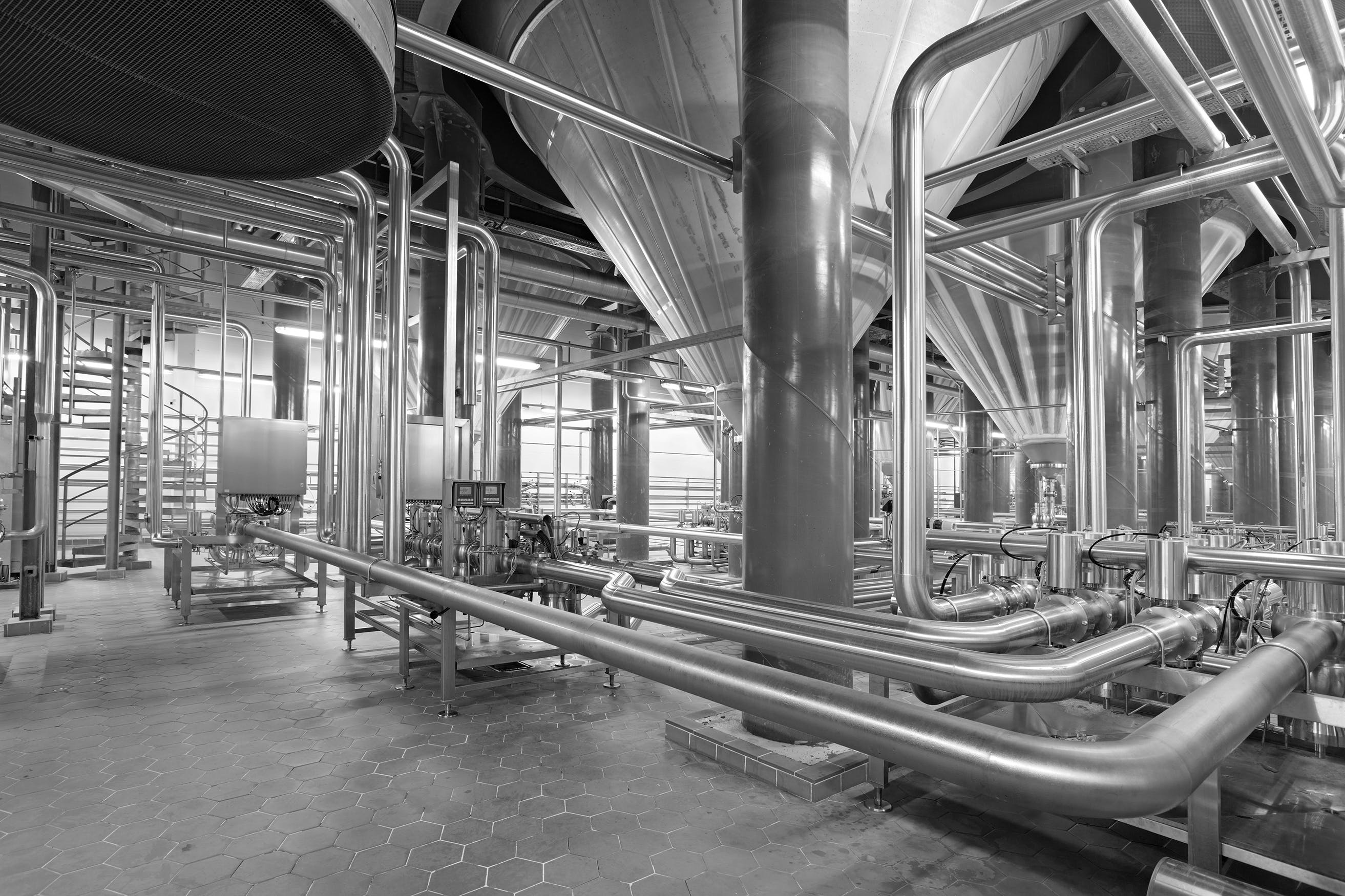 Stainless Steel Dairy Warehouse