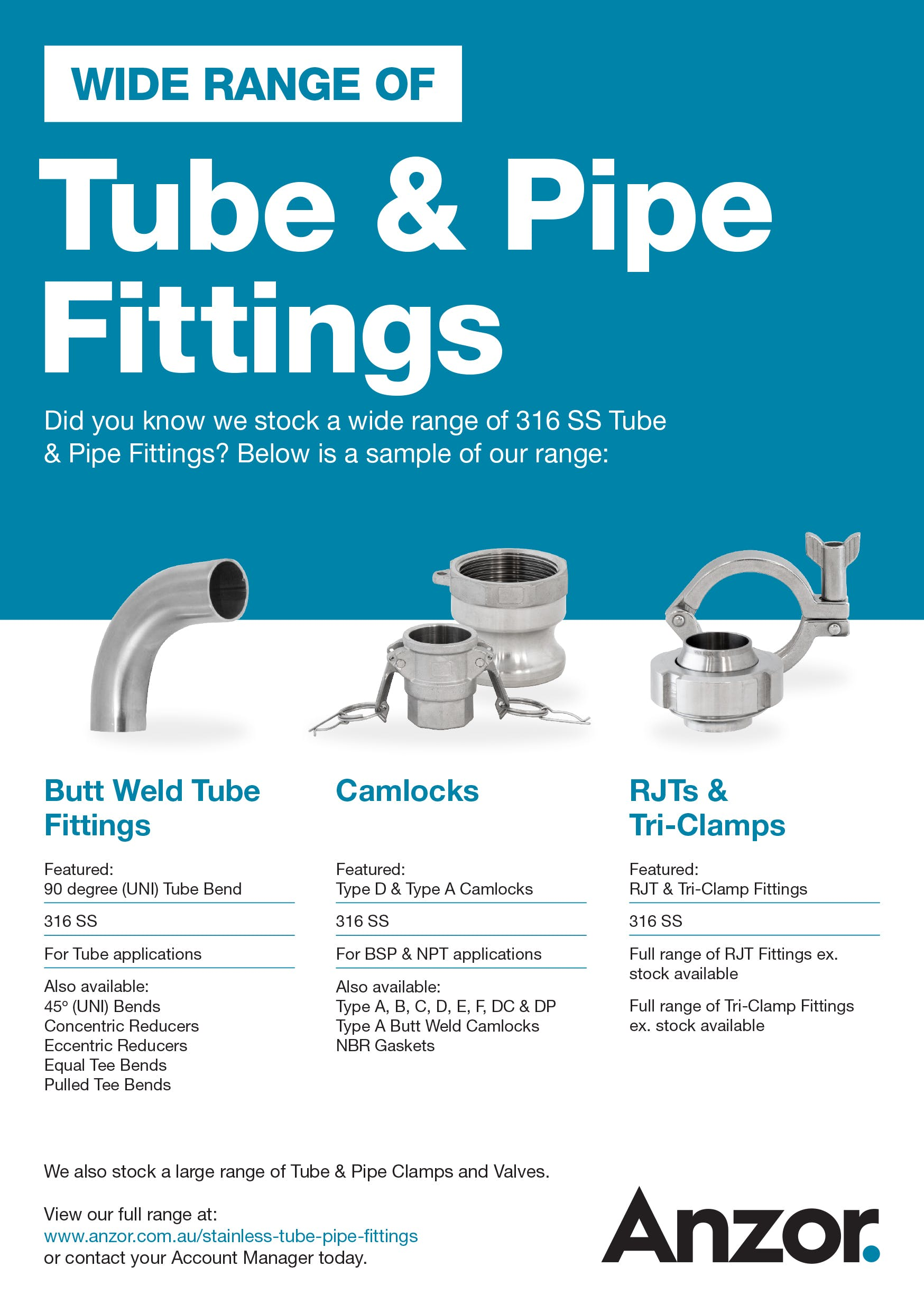 Stainless Steel Tube and Pipe Fittings Flyer