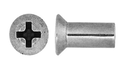 Stainless Steel Countersunk Phillips Barrel Nuts