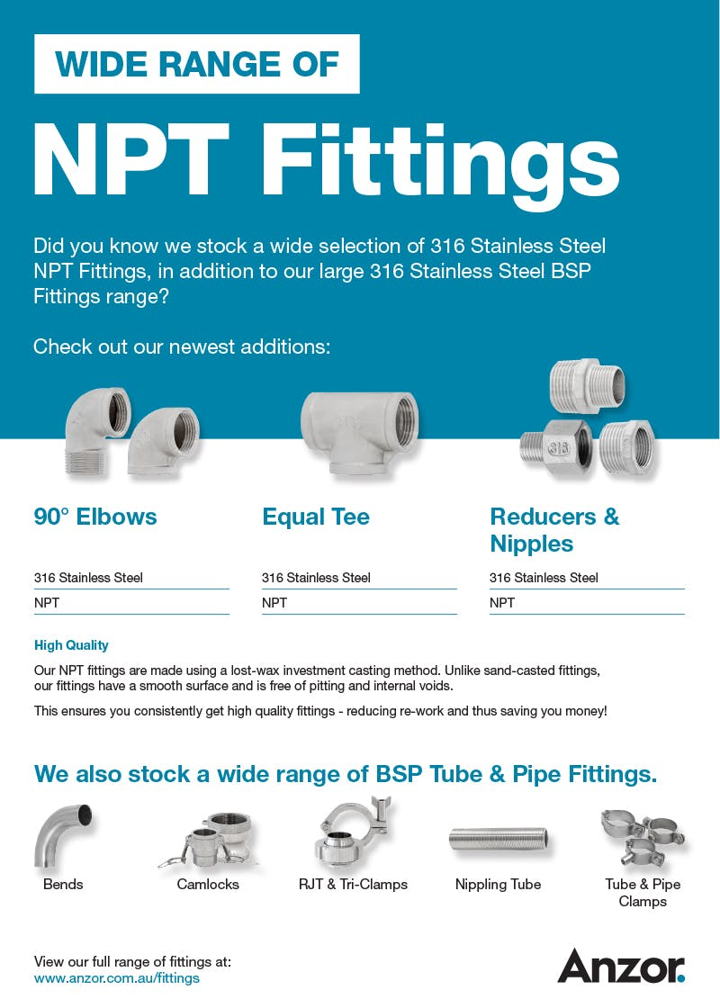 Stainless Steel NPT Fittings Flyer