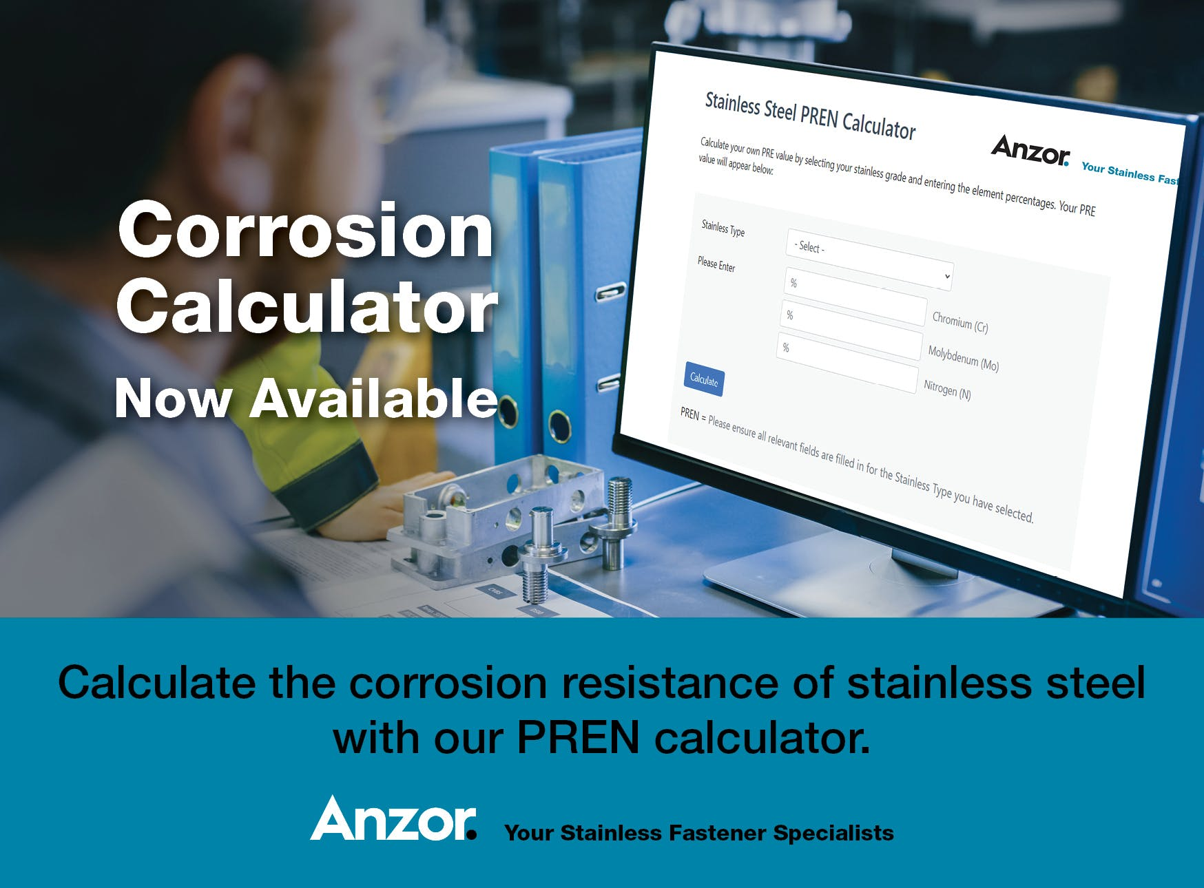 Calculate the corrosion resistance of your stainless steel with our PREN calculator