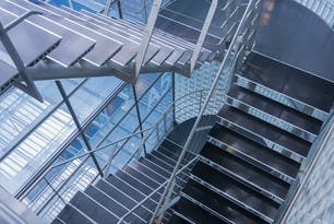 Stainless Metal Stairwell