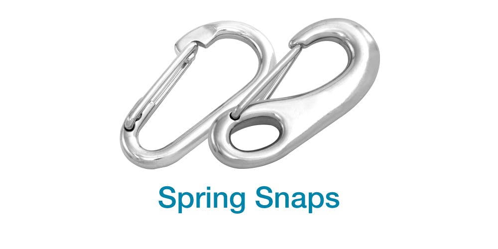 Stainless Steel Spring Hooks and Snaps