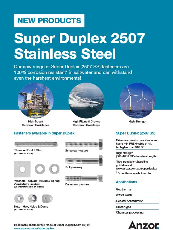 Super Duplex Stainless Steel Engineering Flyer
