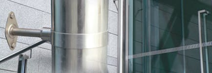 Stainless Steel Downpipe Option