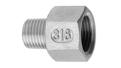 Stainless BSP Negative Bush Adaptor