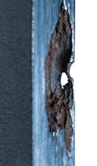 Example of Pitting Corrosion on Stainless Bar