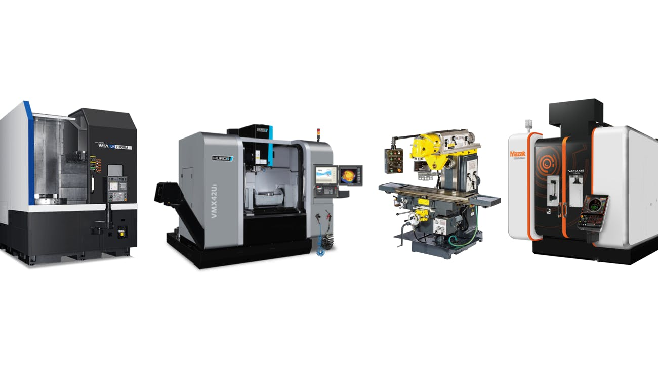 A selecting of CNC equipment