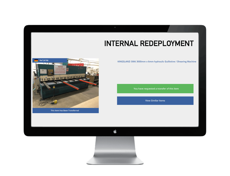 screen with internal redeployment web page displayed