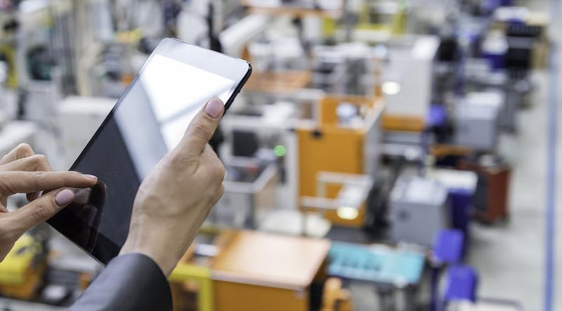 using tablet in industrial plant