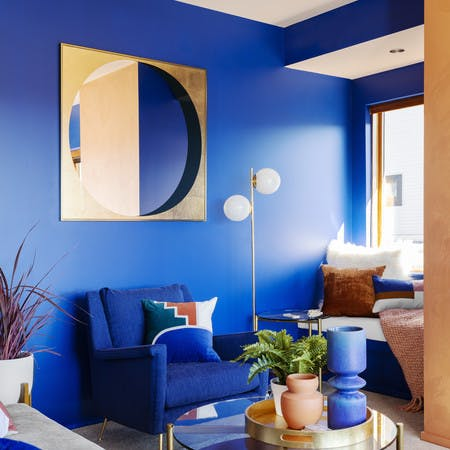 Image of blue apartment for used furniture marketplace AptDeco