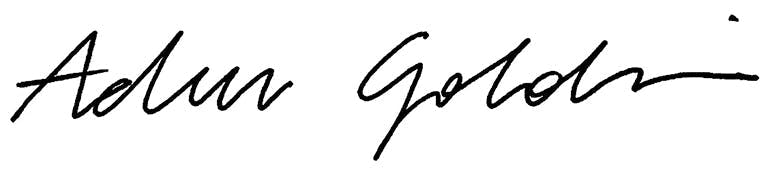 signature of Adam Goldstein