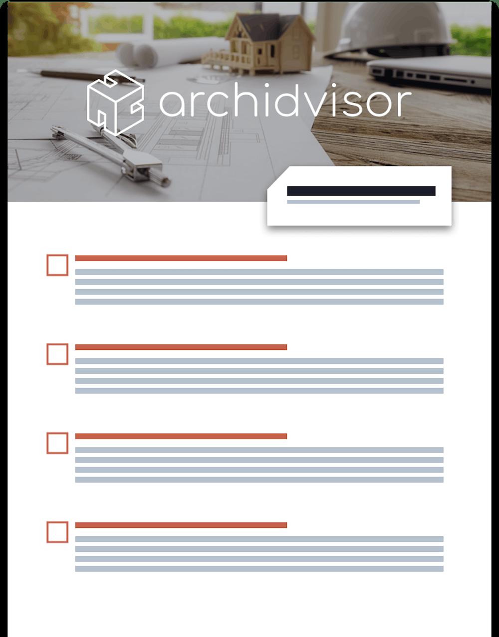 Checklist Rénovation