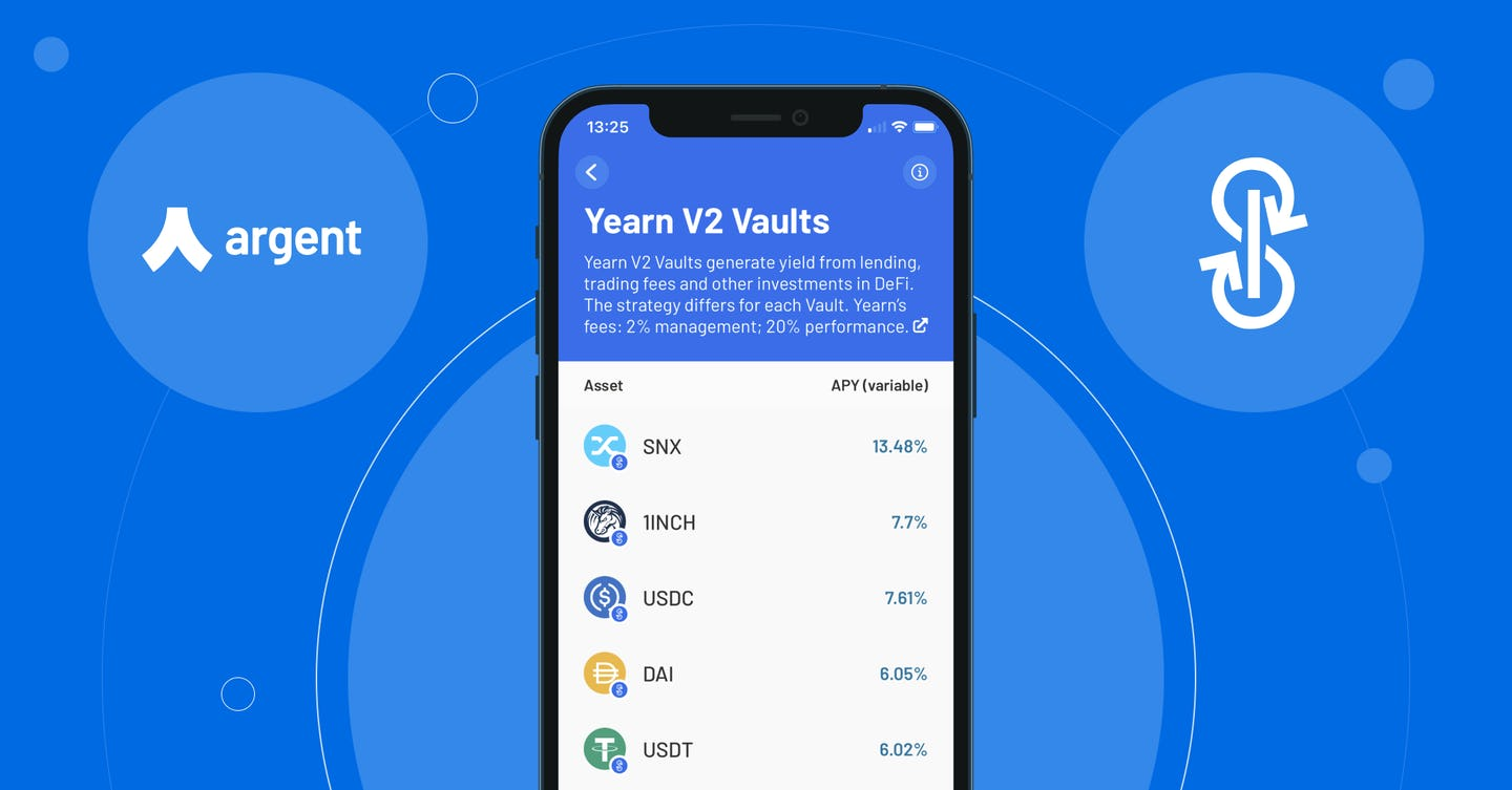 Easily earn with Yearn V2 in Argent