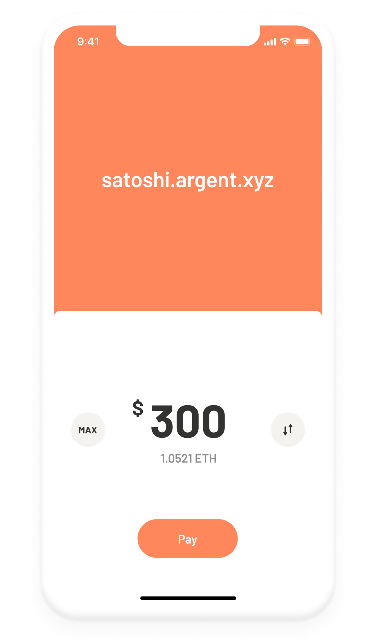 Argent Ethereum DeFi wallet – pay, transfer, send screen