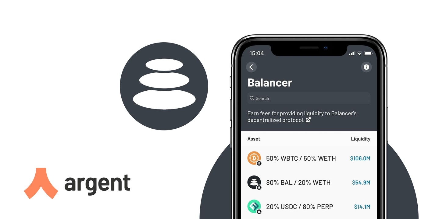 You can now earn fees and BAL from Balancer pools in Argent!