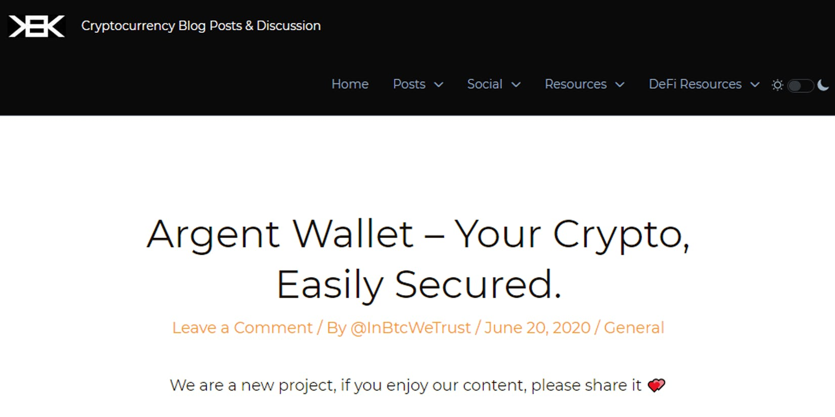 CryptoKek: Argent Wallet - Your crypto, easily secured