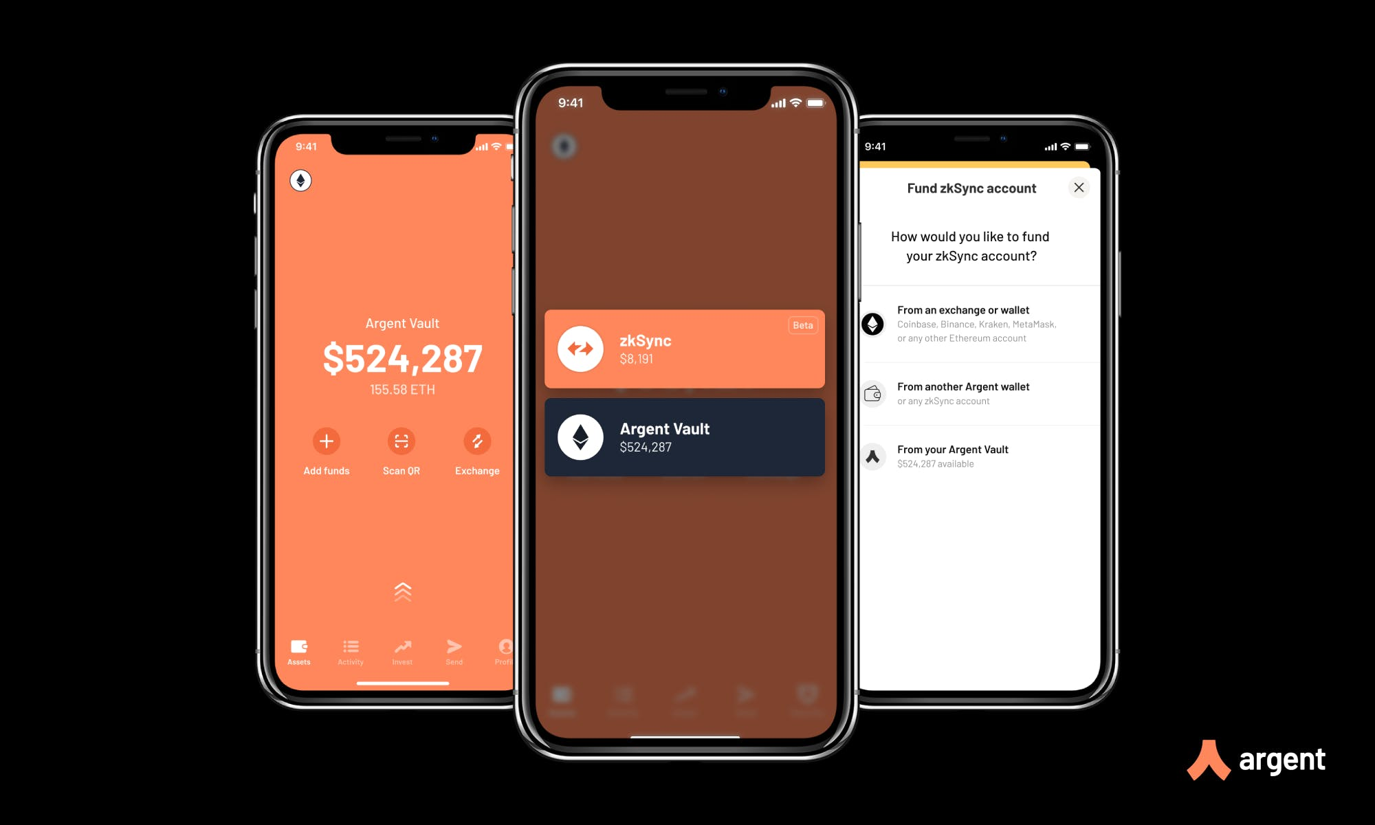 Argent Layer 2 wallet preview