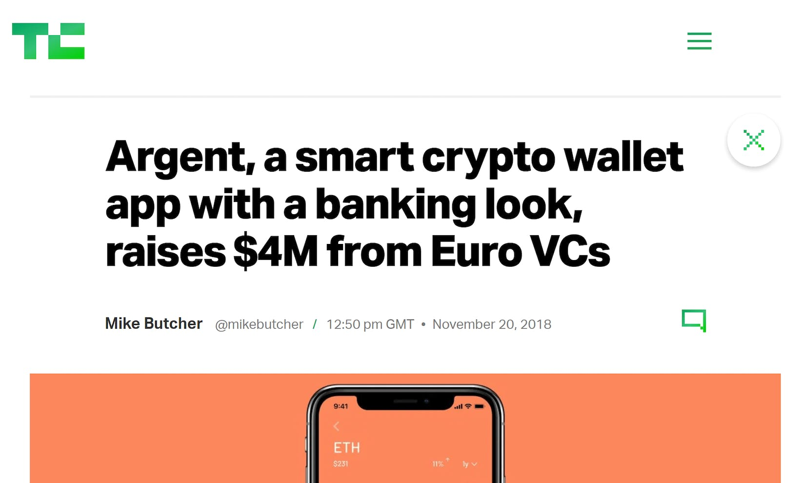 TechCrunch takes a look at Argent