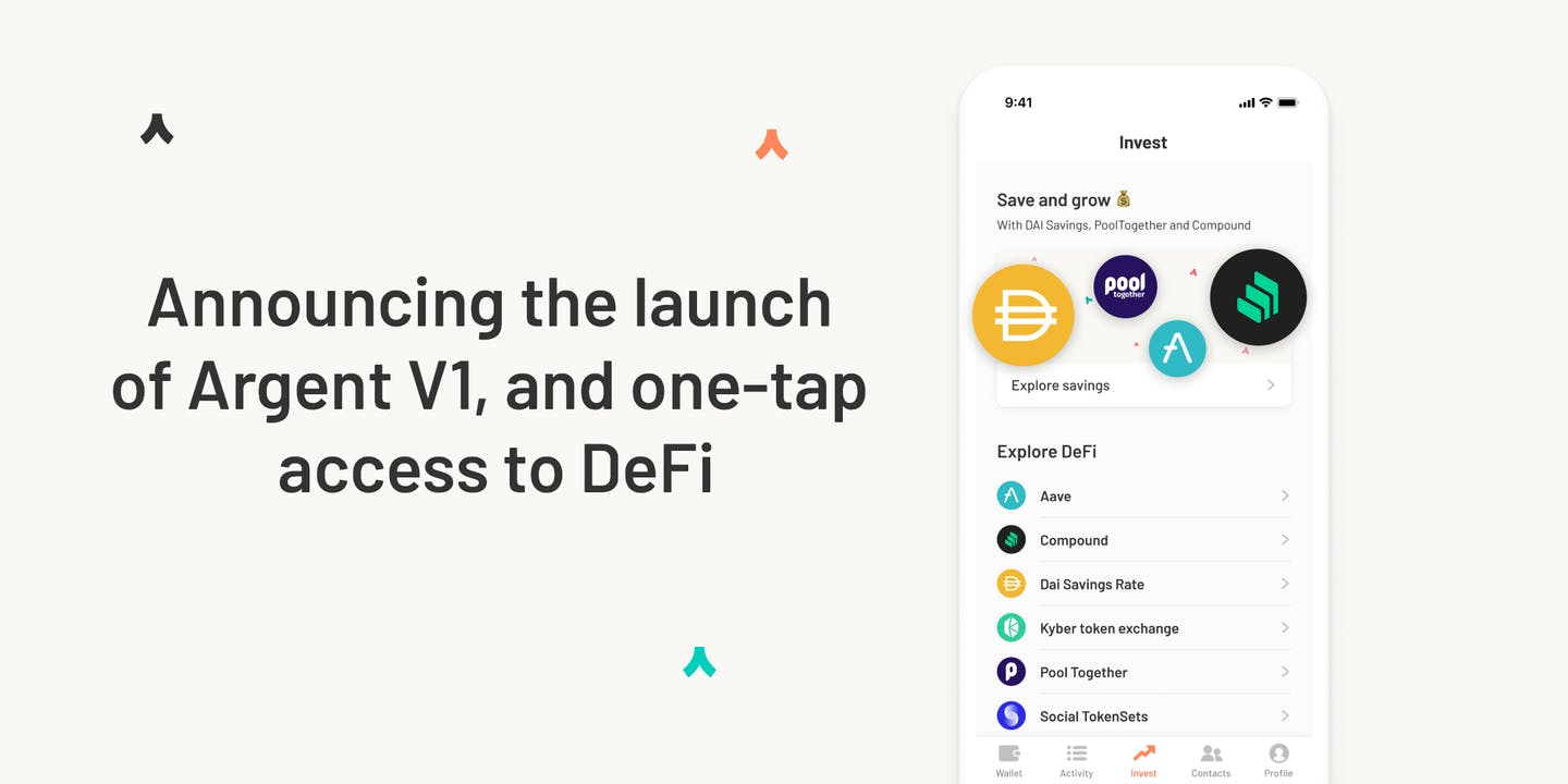 Announcing the launch of Argent V1, and one-tap access to DeFi