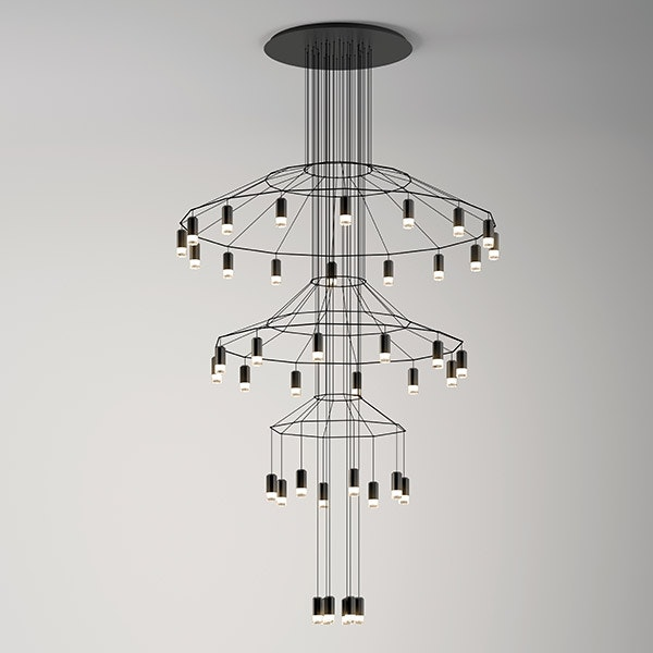 Wireflow Chandelier for Vibia