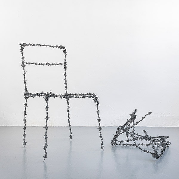 BarbedWire Chair and BarbedWireFolded Chair