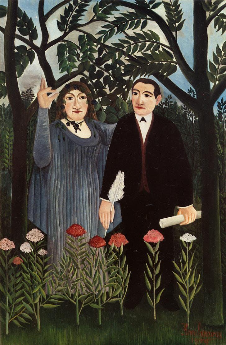 Rousseau - La muse inspirant le poète - 1909