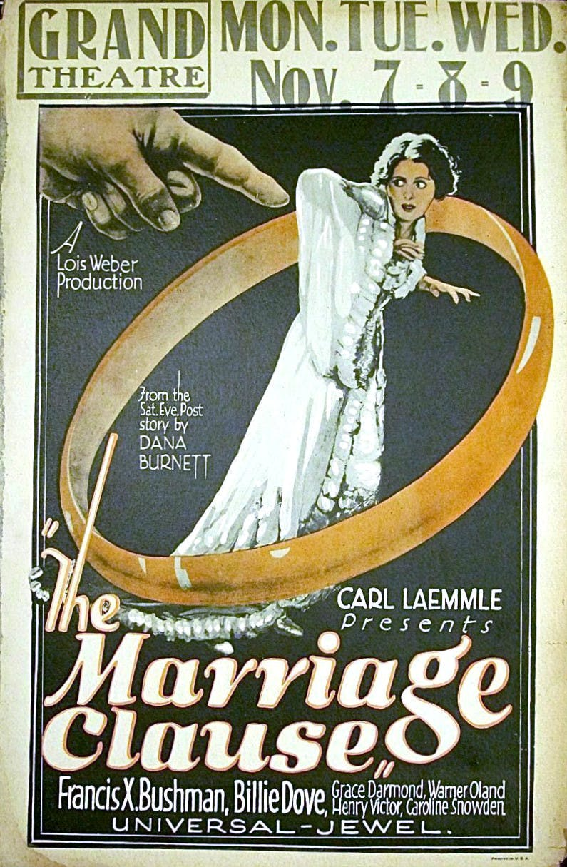 Lois Weber - The marriage clause