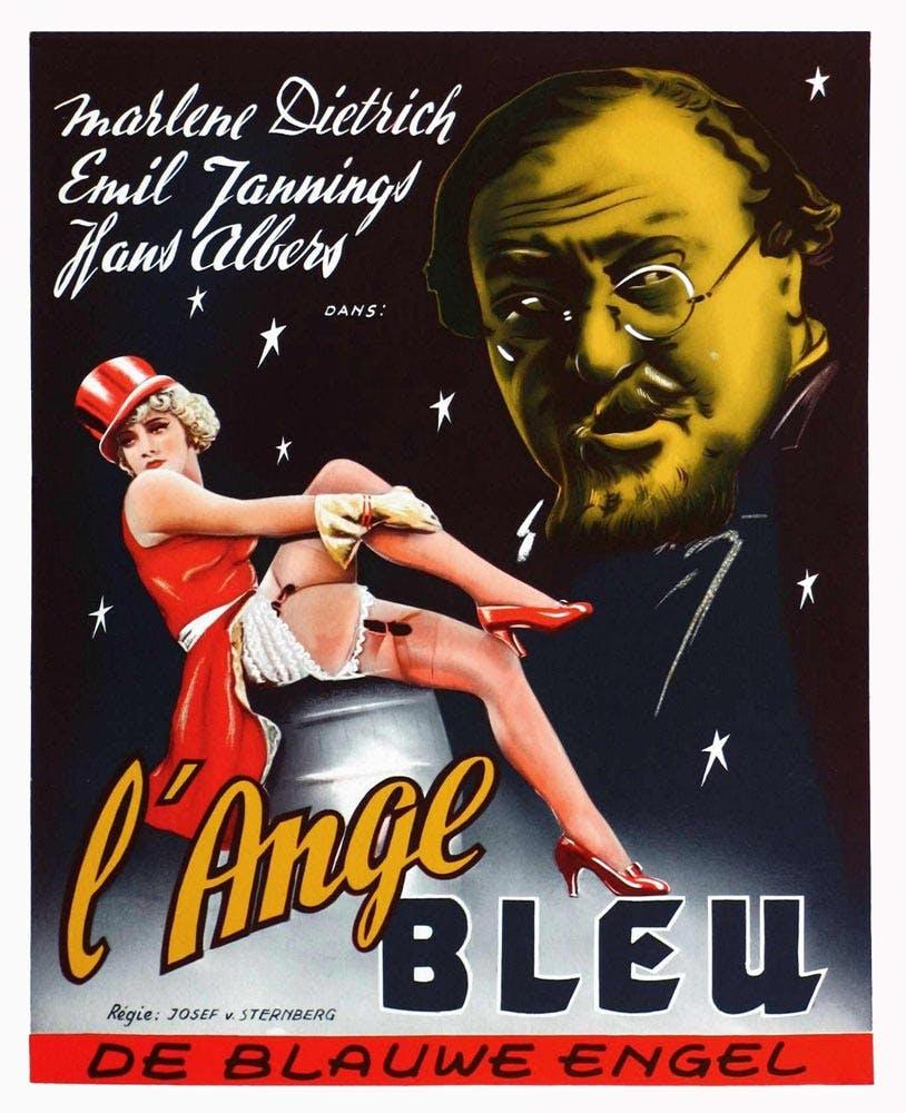 Affiche film l'Ange Bleu