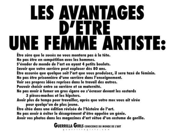 Guerrilla Girls, un combat de femmes pour les femmes artistes