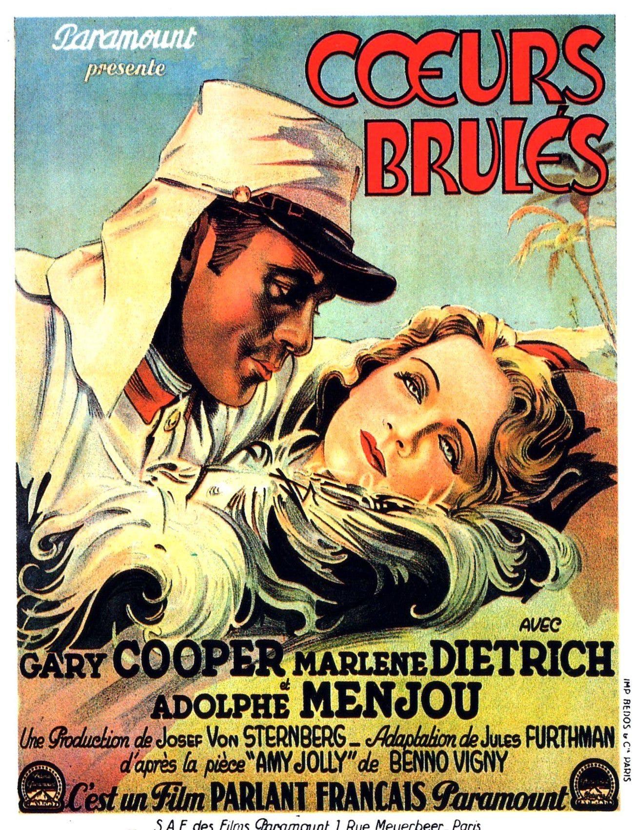 Affiche film Coeurs brûlés (ou Marrocco à l'origine)