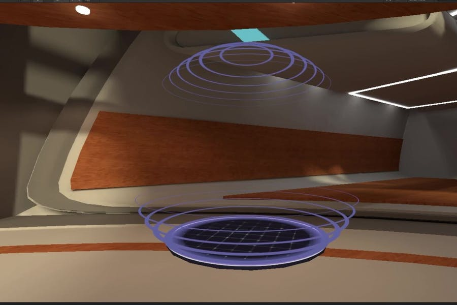 A depiction of a private audio zone in Arthur VR office