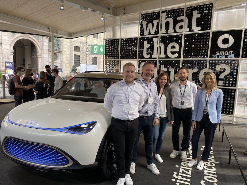 Frá IAA Mobility 2021 bílasýningunni í Munich