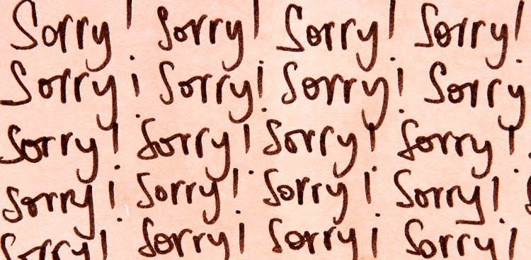 The importance of saying sorry