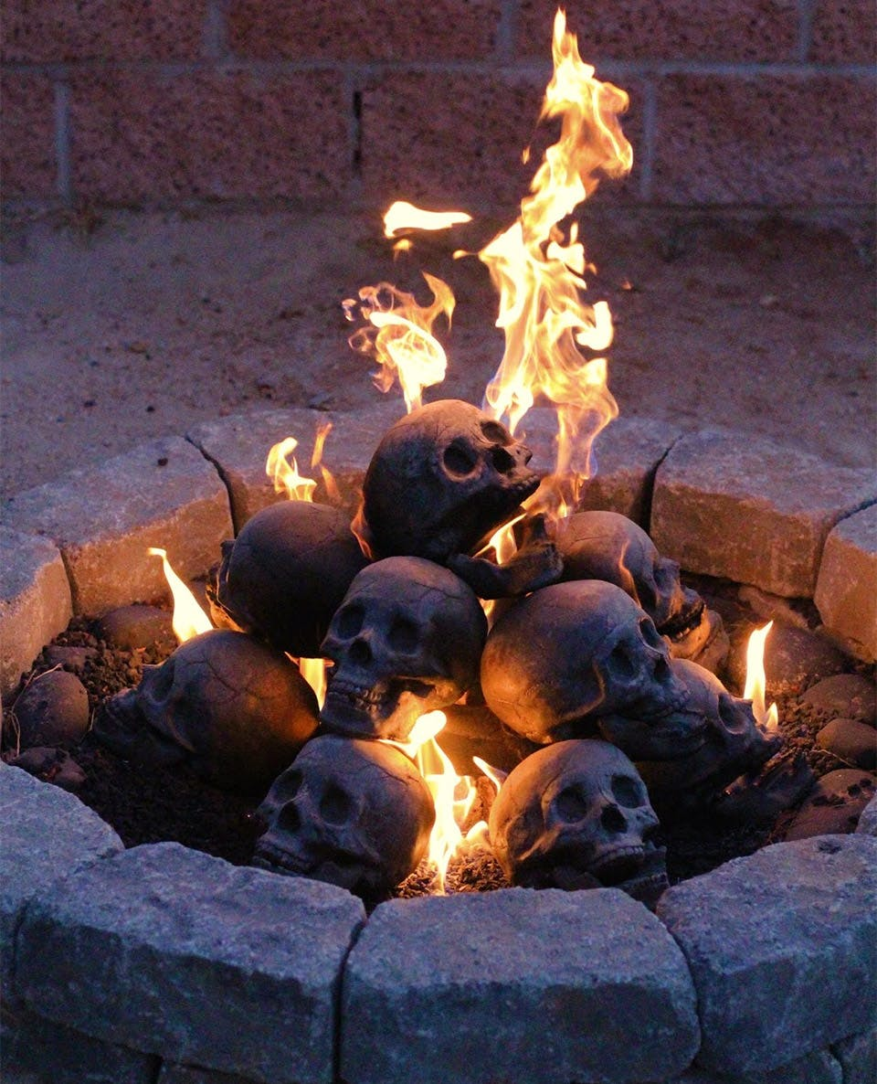 Add some human skulls to your firepit
