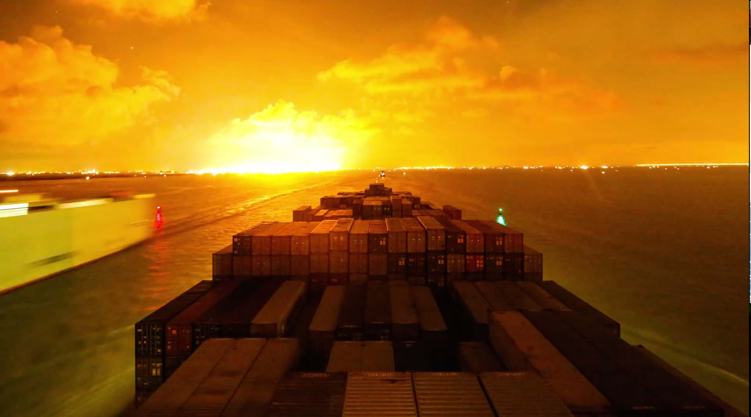 Watch this container ship travel the world