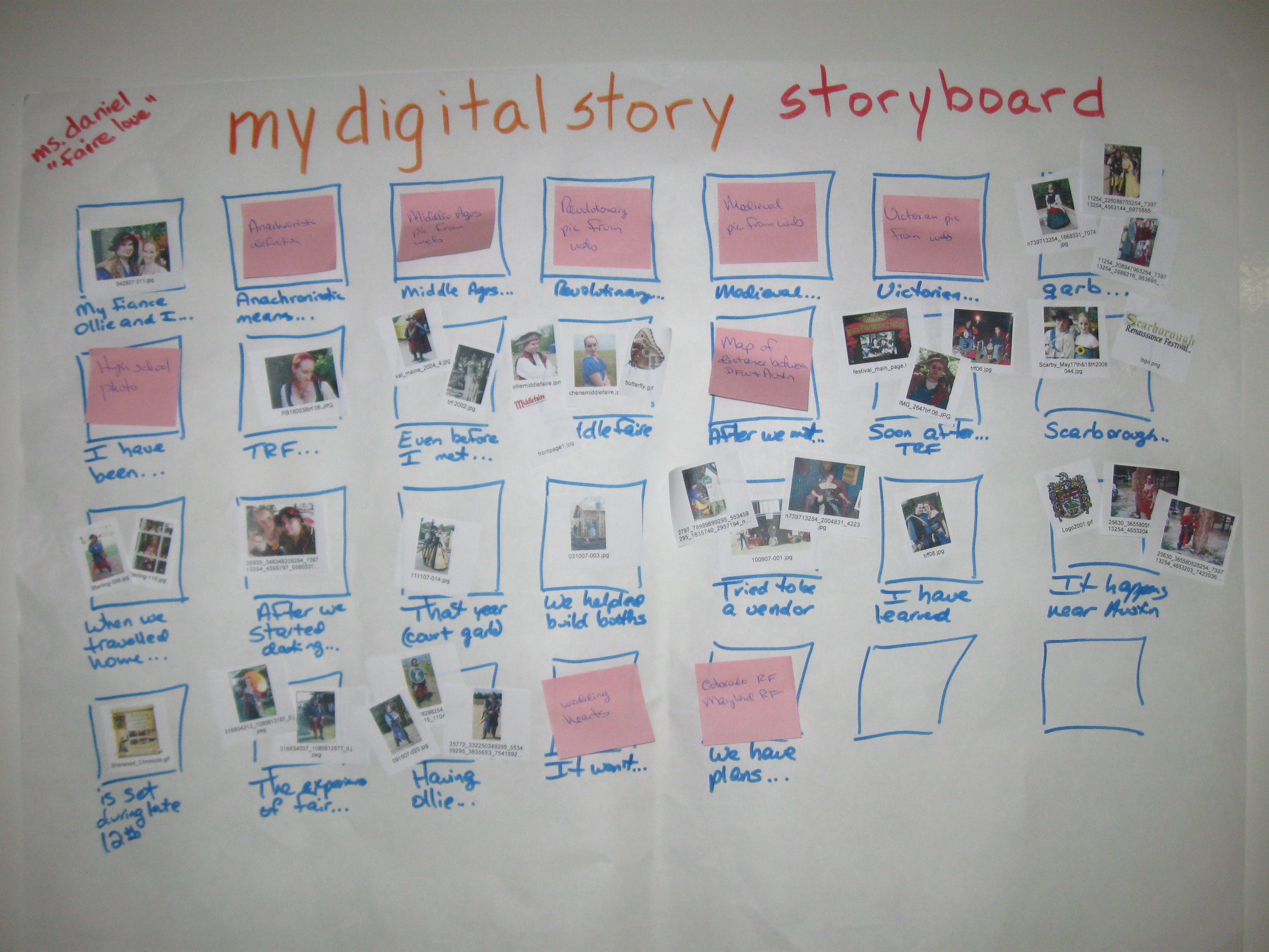 English: How to storyboard your digital narrative