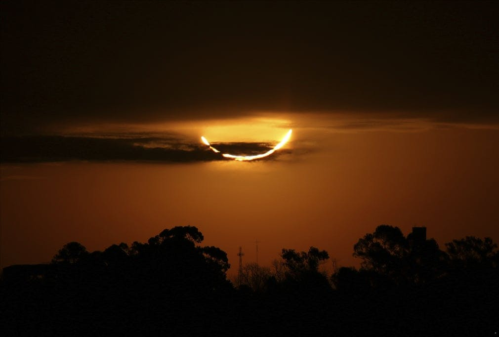 There was a total solar eclipse in Argentina