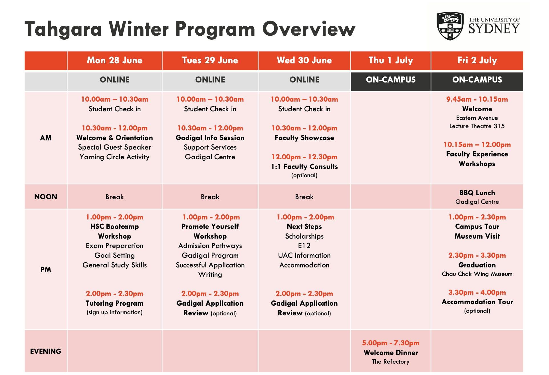 Tahgara Winter Program Overview