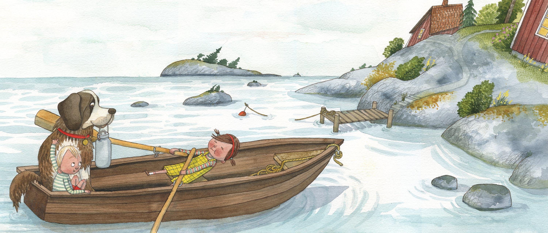 """Illustration från boken """"Ett litet djur åt Pelle"""", av Maria Nilsson Thore"""