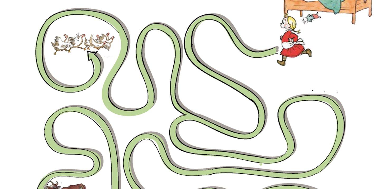 Pyssla med Emil: Hjälp Ida genom labyrinten