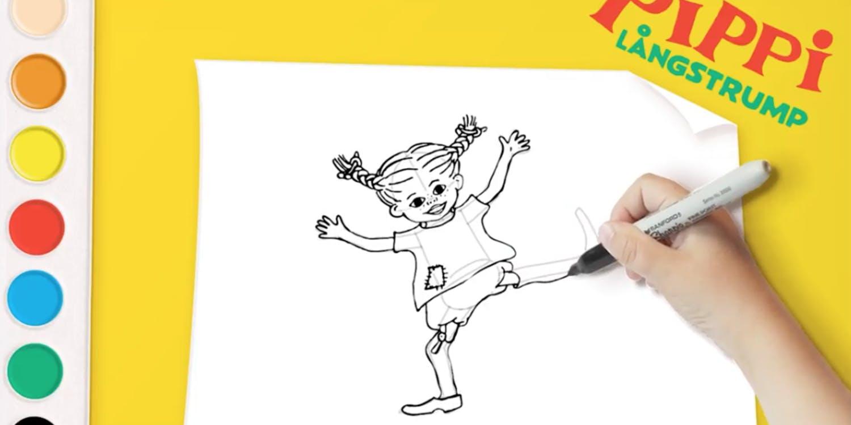 Måla med Pippi på YouTube