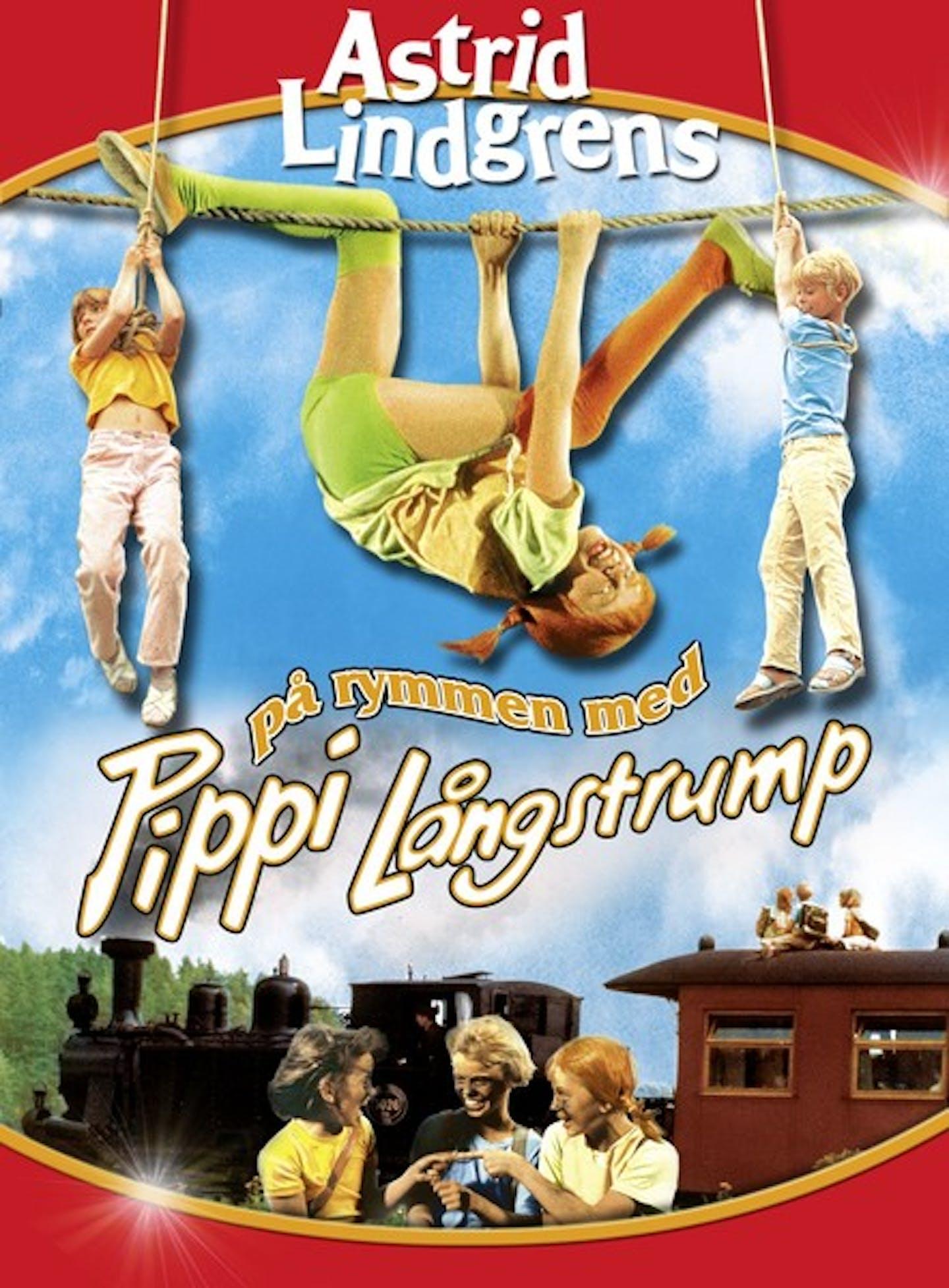 Film poster På rymmen med Pippi