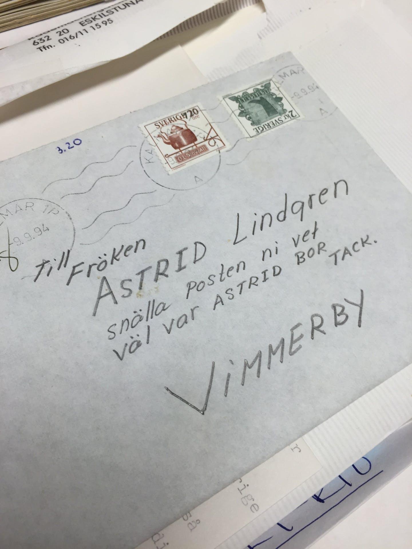 Brev till Astrid Lindgren