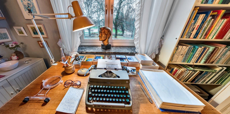 Astrids skrivbord på Dalagatan 46