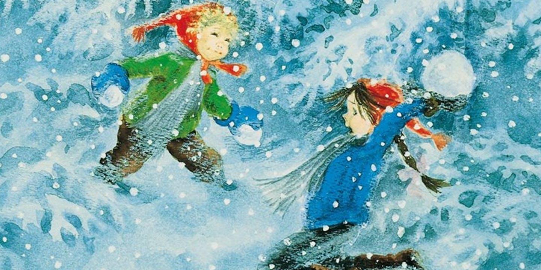 Omslag Titta, Madicken, det snöar!