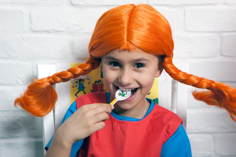 Barn utklätt till Pippi