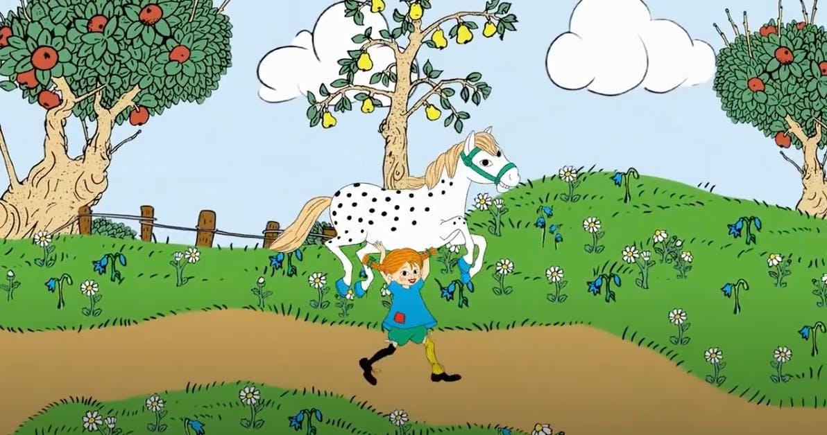 Bild från musikvideo med Pippi