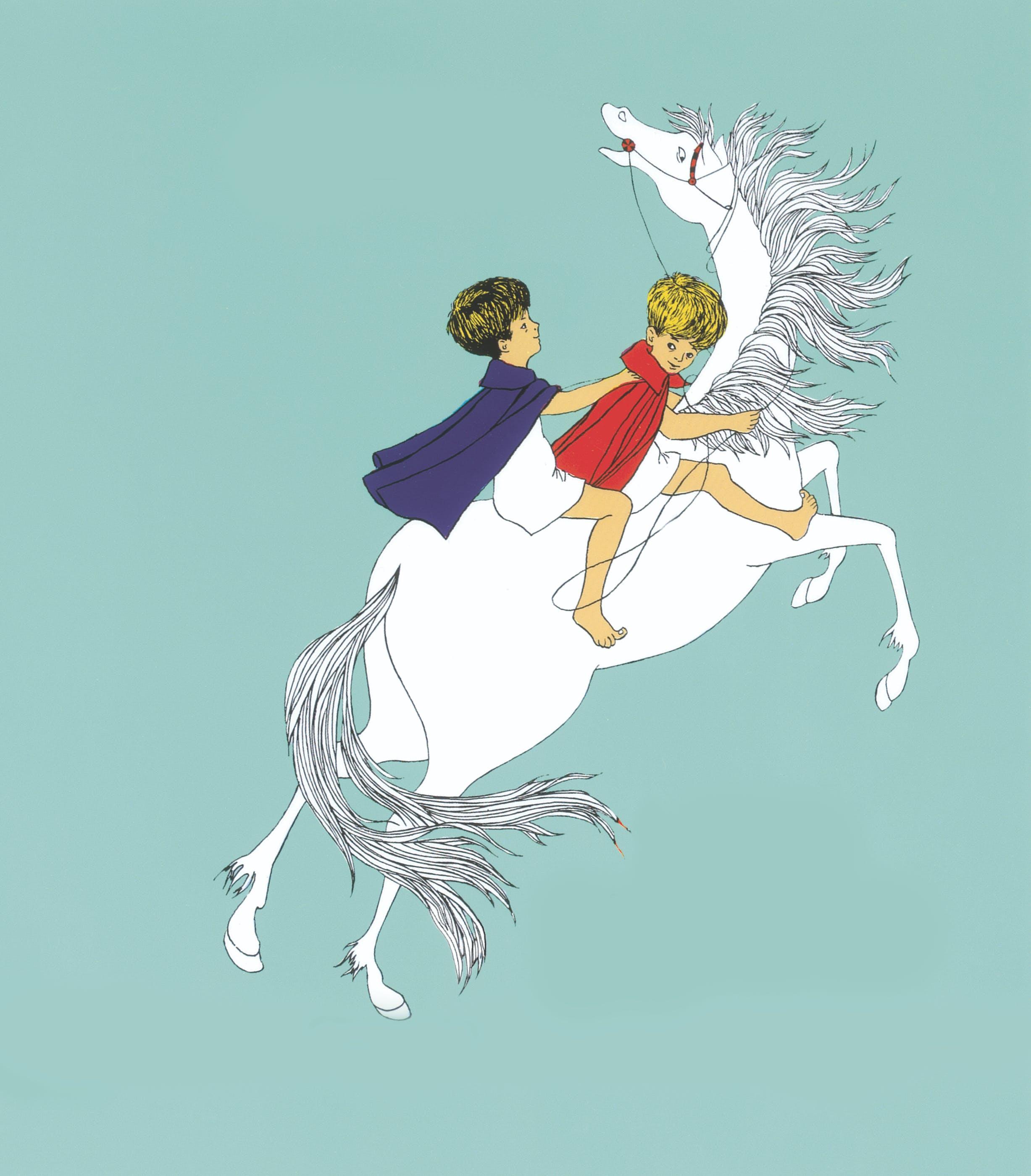 Mio på häst
