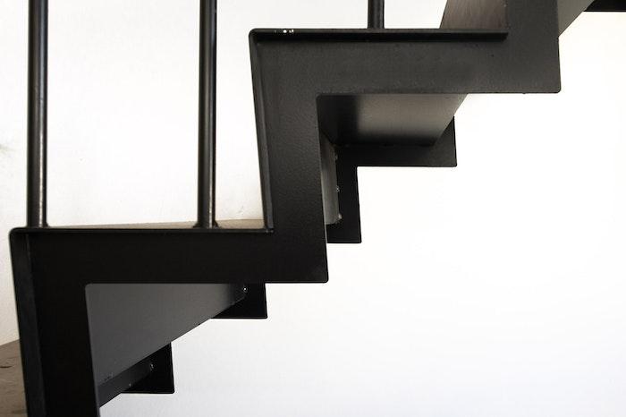 Steps of Black Stairwell